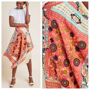 NWT RAREAnthro Bhanuni Sonatina Embellished skirt